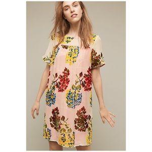 Anthro Maeve Flower Market Swing Dress